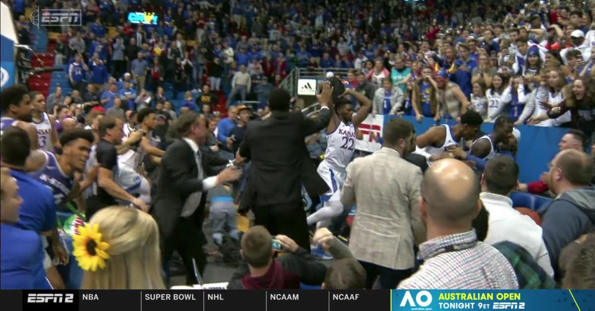 Kansas Basketball Fight Massive Brawl Mars Ending Vs