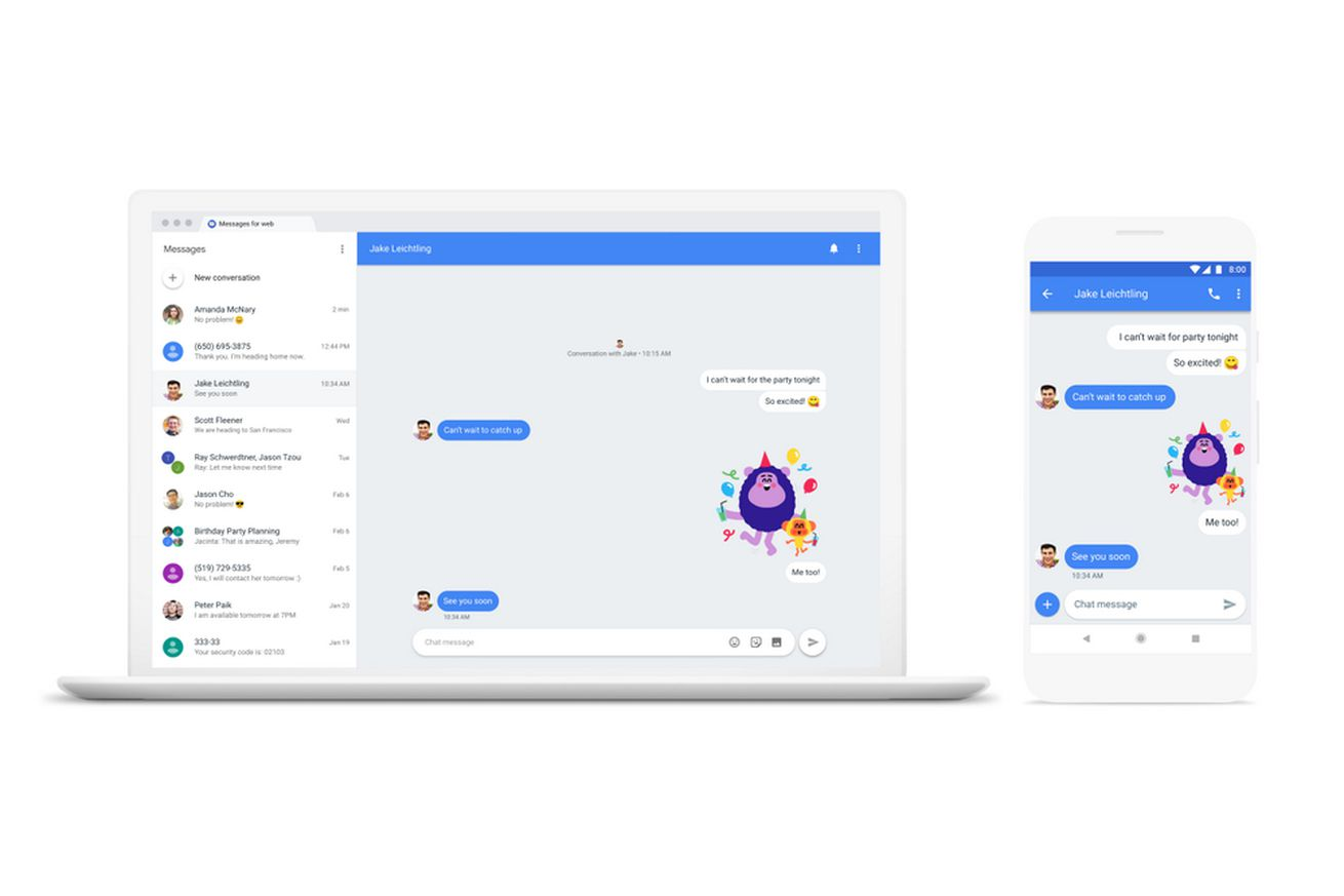 android messages will let you send texts from your computer starting today