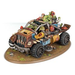 The Rukkatrukk Squigbuggy will feed your troops while laying down covering fire.