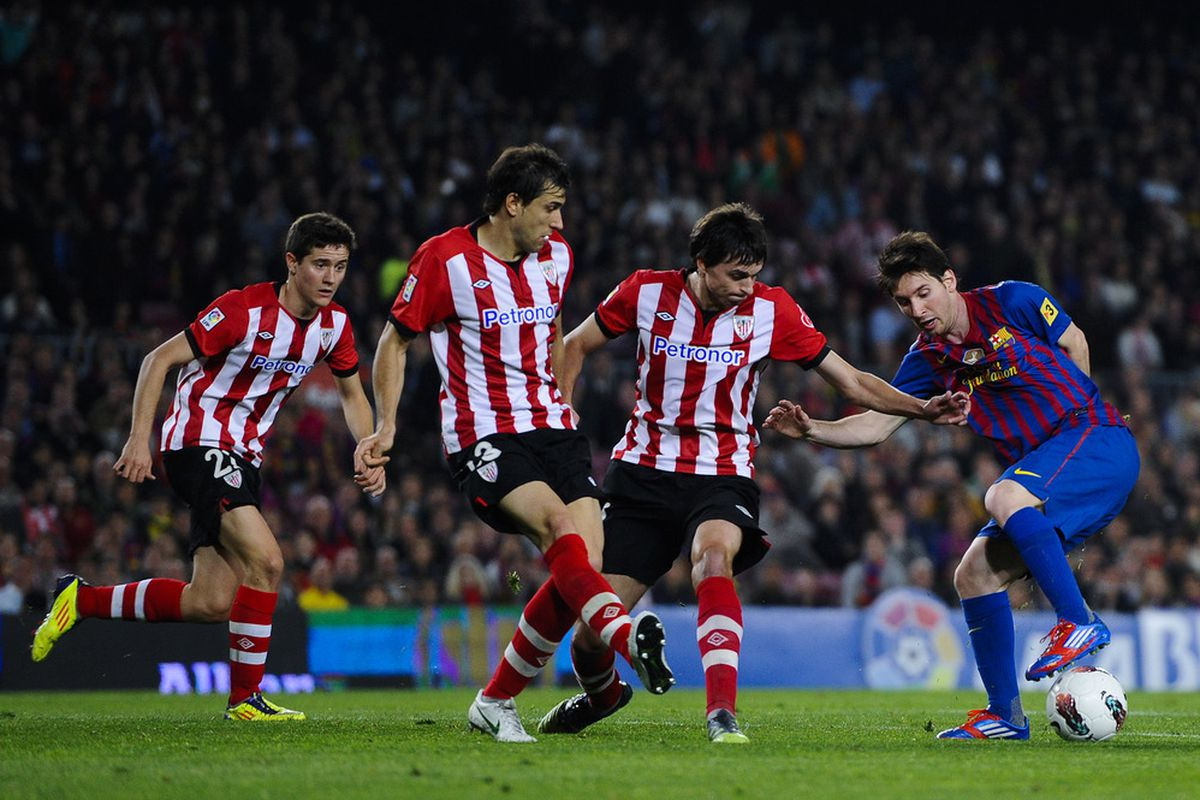 Three on one, and Messi still can't be stopped