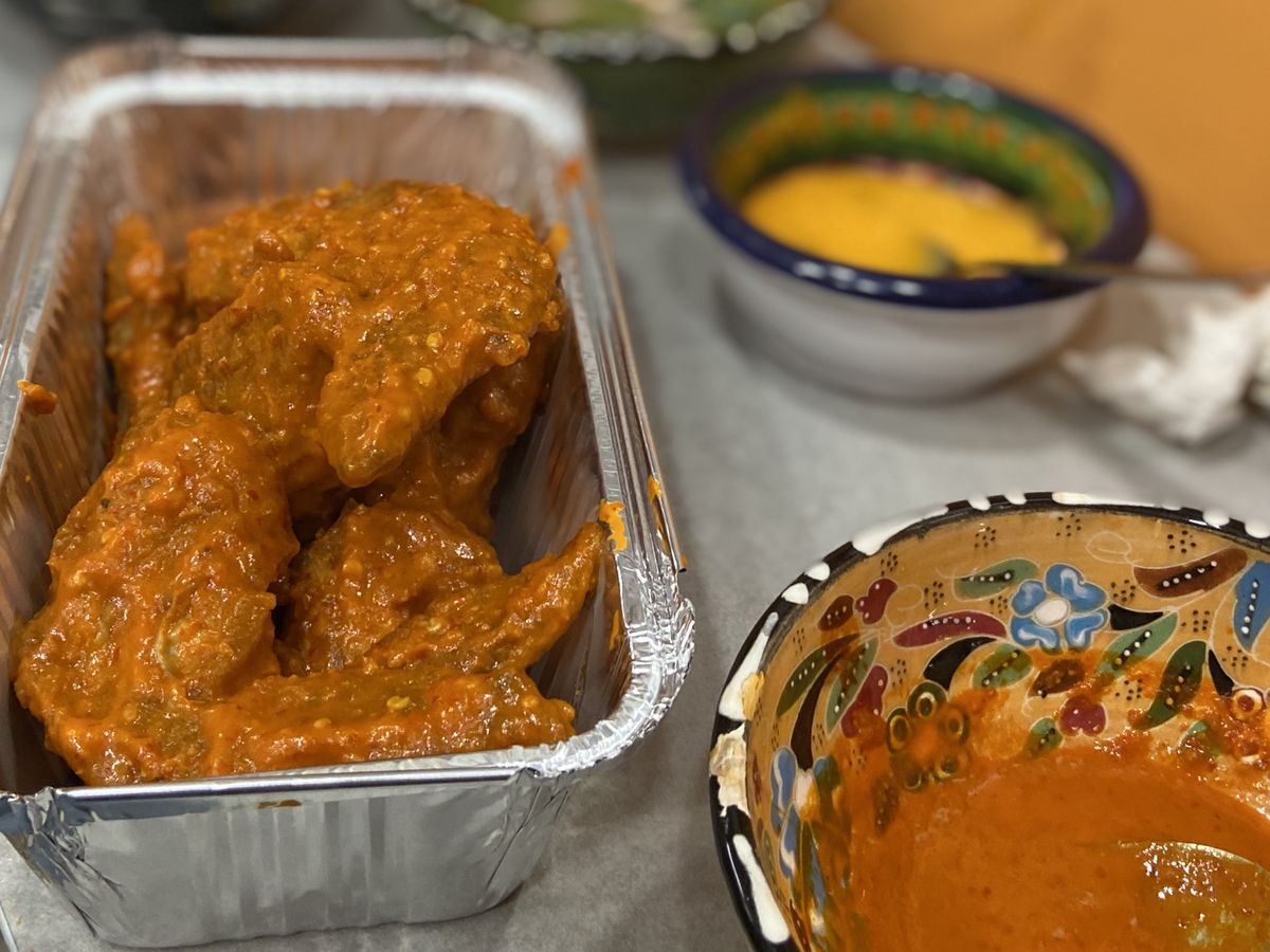 Arbol chilli and butter wings atLa Chingada
