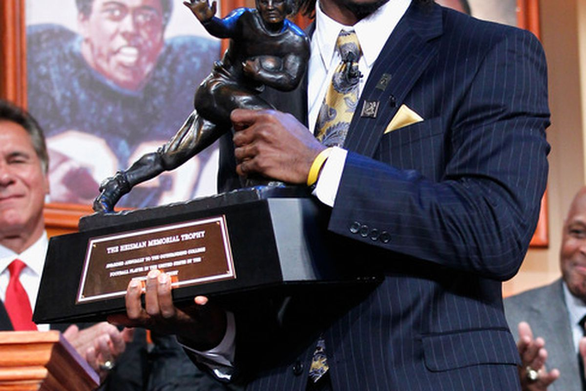 """""""Unbelievably believable.""""-- Robert Griffin III.  I was always going to use this picture.  (Photo by Kelly Kline/Heisman Trophy Trust via Getty Images)"""