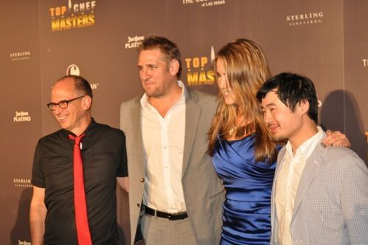 Top Chef Masters judges James Oseland, host Curtis Stone, Krista Simmons and Francis Lam.