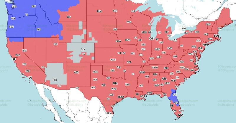 LA Rams-Eagles Week 14 broadcast map - Turf Show Times