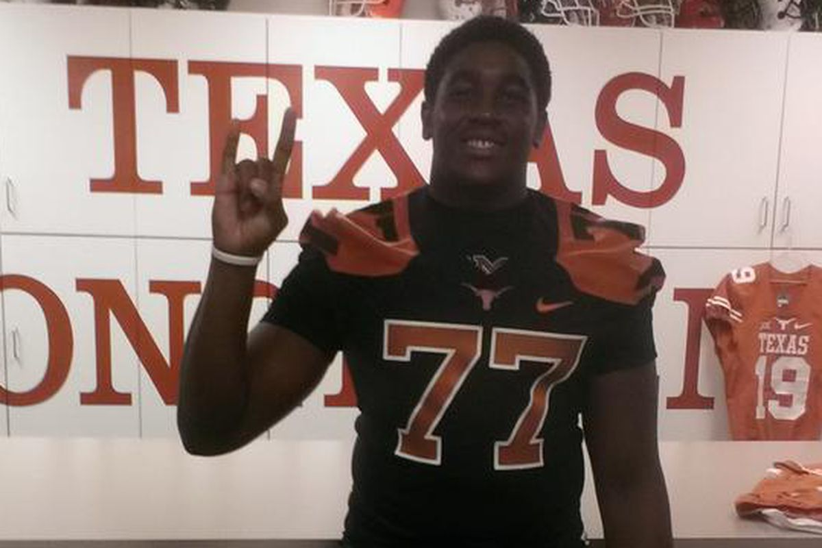 Texas 2016 commit Denzel Okafor during a visit to Austin in June 2015.