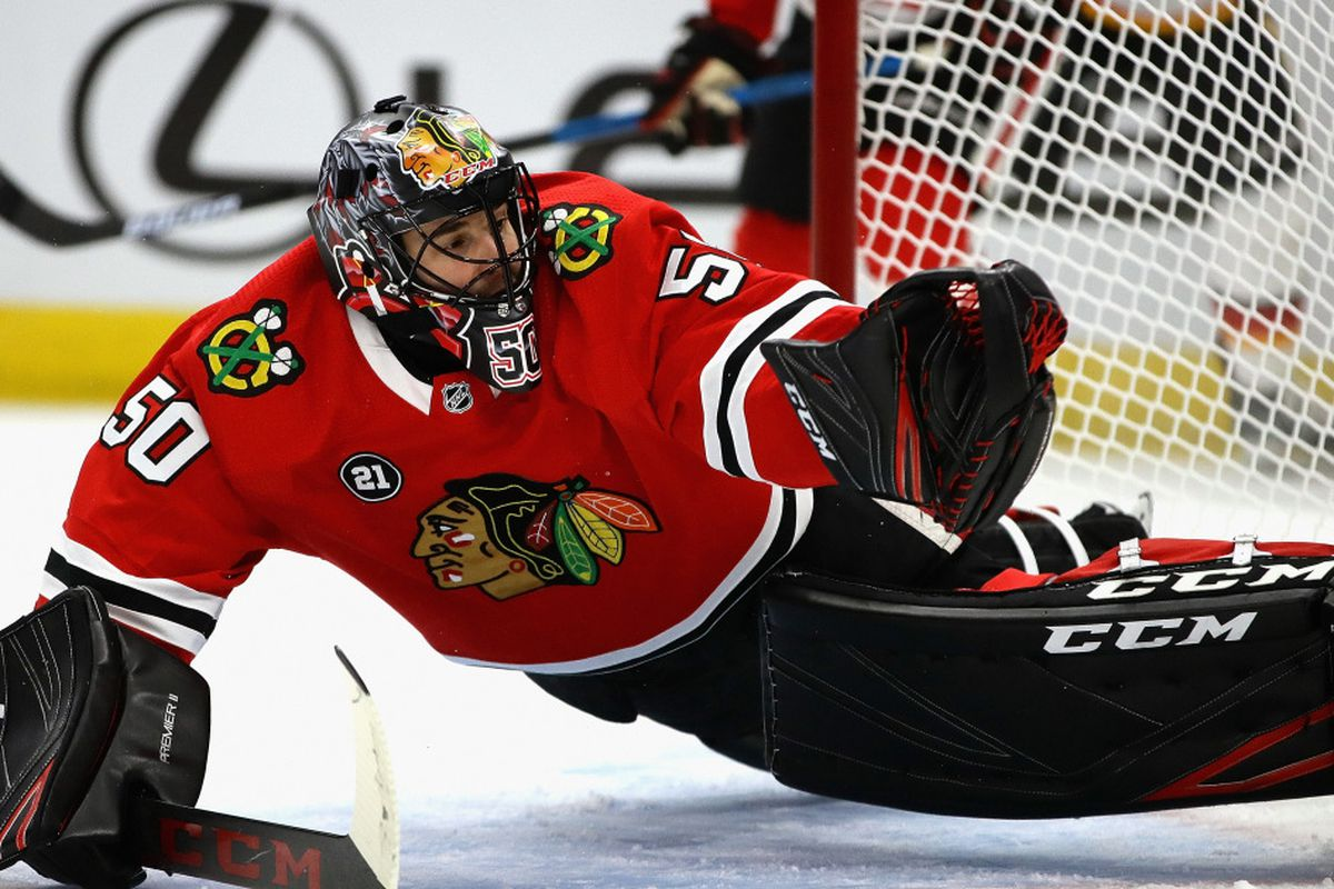Blackhawks Goalie Corey Crawford Seems Intent On Return From Concussion Chicago Sun Times