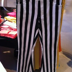 These high-waisted striped pants ($242) are very Beetlejuice.