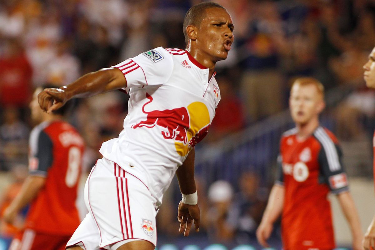 HARRISON, NJ - JULY 06:  Agudelo: Coming to Chivas USA (Photo by Mike Stobe/Getty Images for New York Red Bulls)