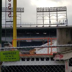 A look at the work in the right field upper deck