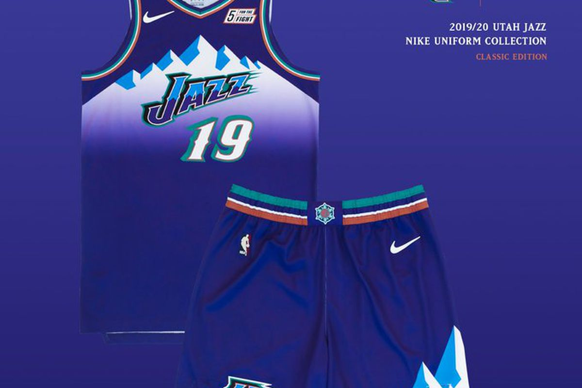 size 40 c1d1f bf44d Purple Mountain Majesty: Utah Jazz release '97 throwback ...