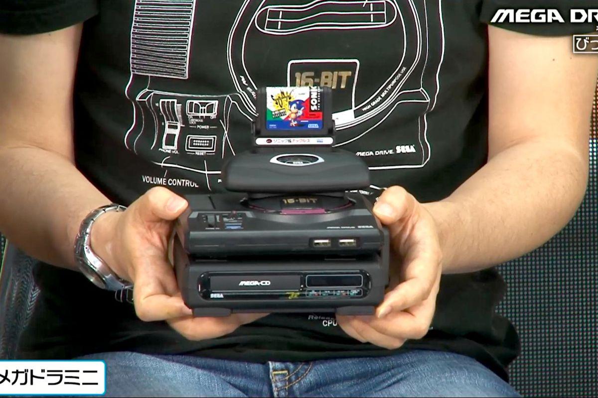 Sega Genesis Mini 'mini tower' includes a Sega CD, 32X, Sonic