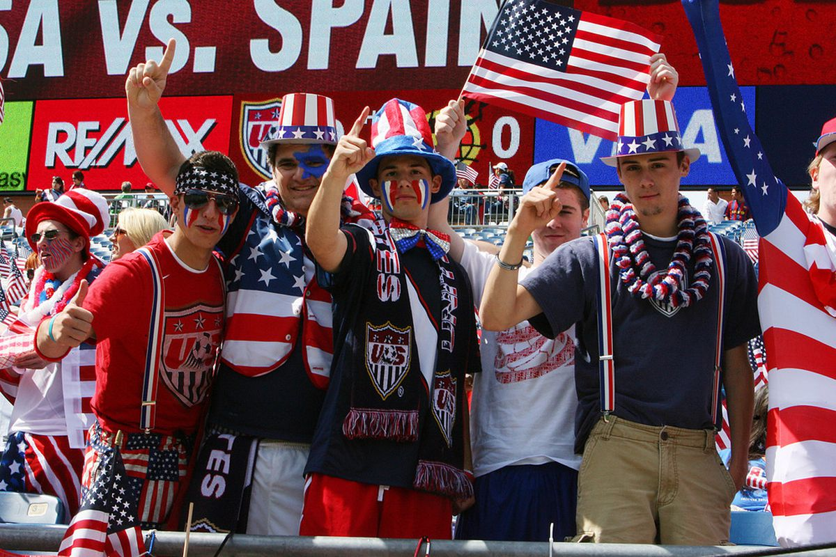FOXBORO, MA - JUNE 4:  Fans attends the International Friendly match between the United States and Spain at Gillette Stadium on June 4, 2011 in Foxboro, Massachusetts. (Photo by Gail Oskin/Getty Images)