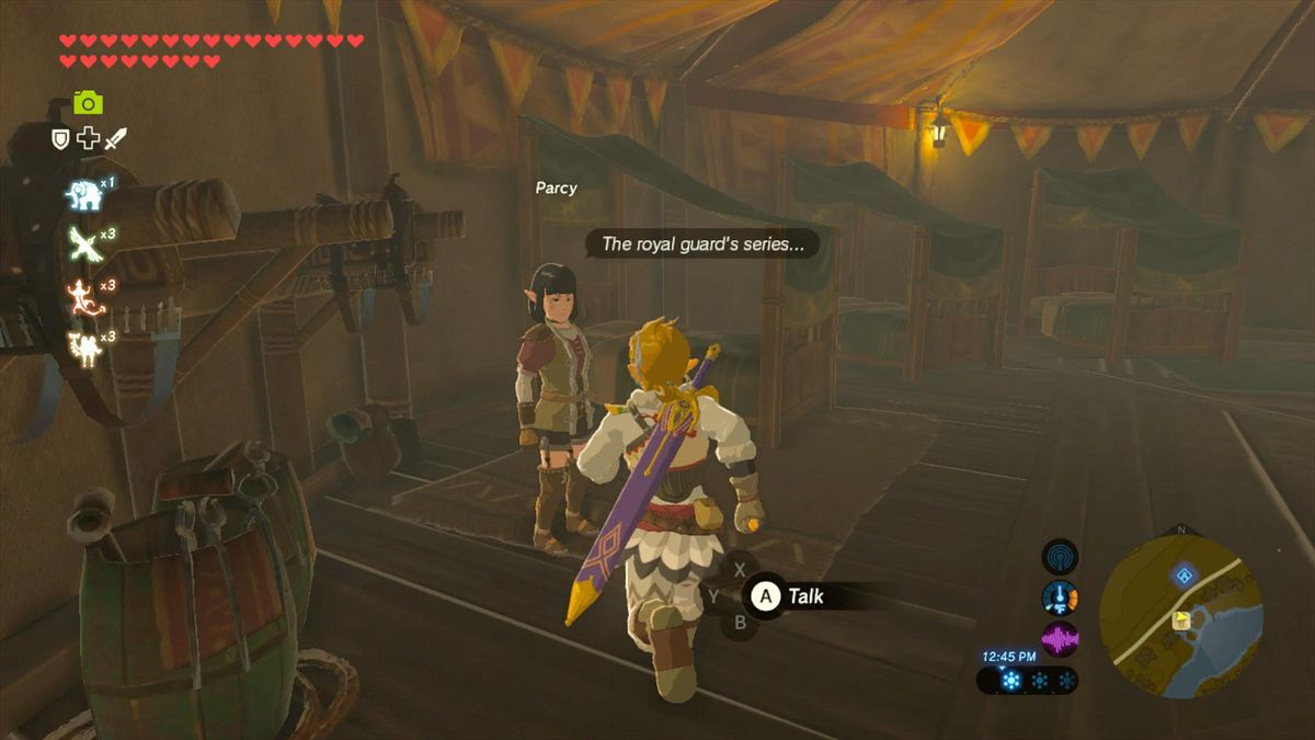 Zelda Breath of the Wild guide: 'The Royal Guard's Gear