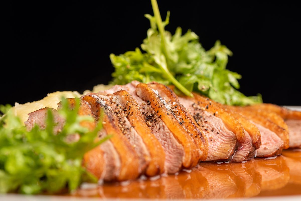 Pan-roasted dry-aged duck breast