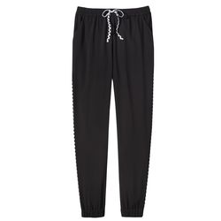 Jogger Pant in Black with Plaid Trim, $29.99, (XS-XXL, 1X-3X*) *Target.com Only