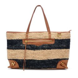 Endless Love straw/leather tote, $137 (was $250)