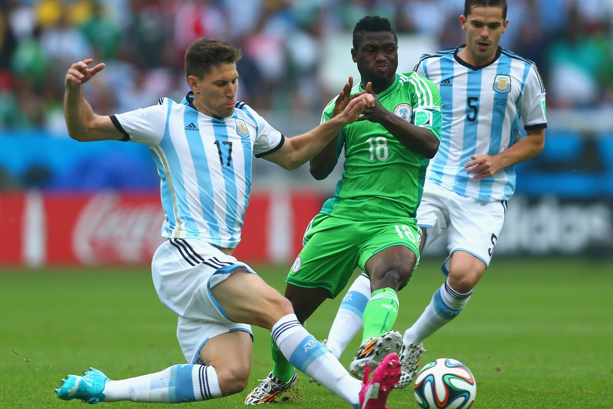 Babatunde in World Cup action against Argentina