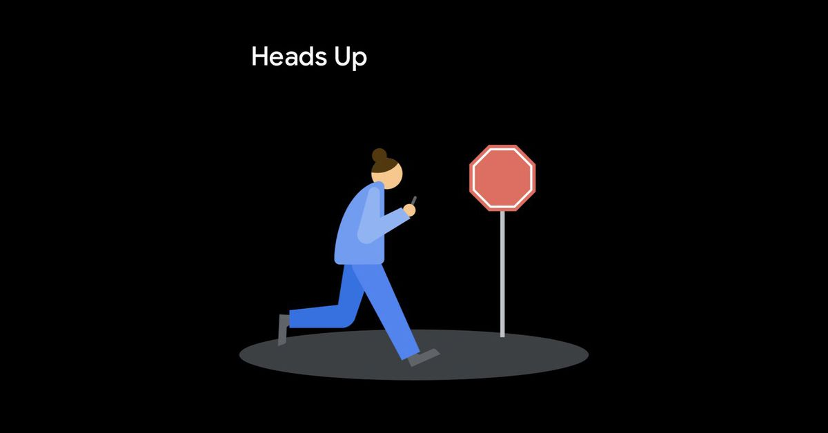 New 'Heads Up' feature nags distracted Android users to look up while walking – The Verge