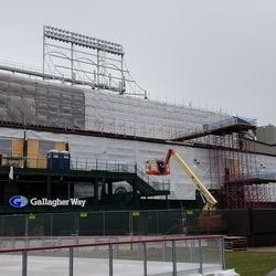 Wider view of west side of ballpark