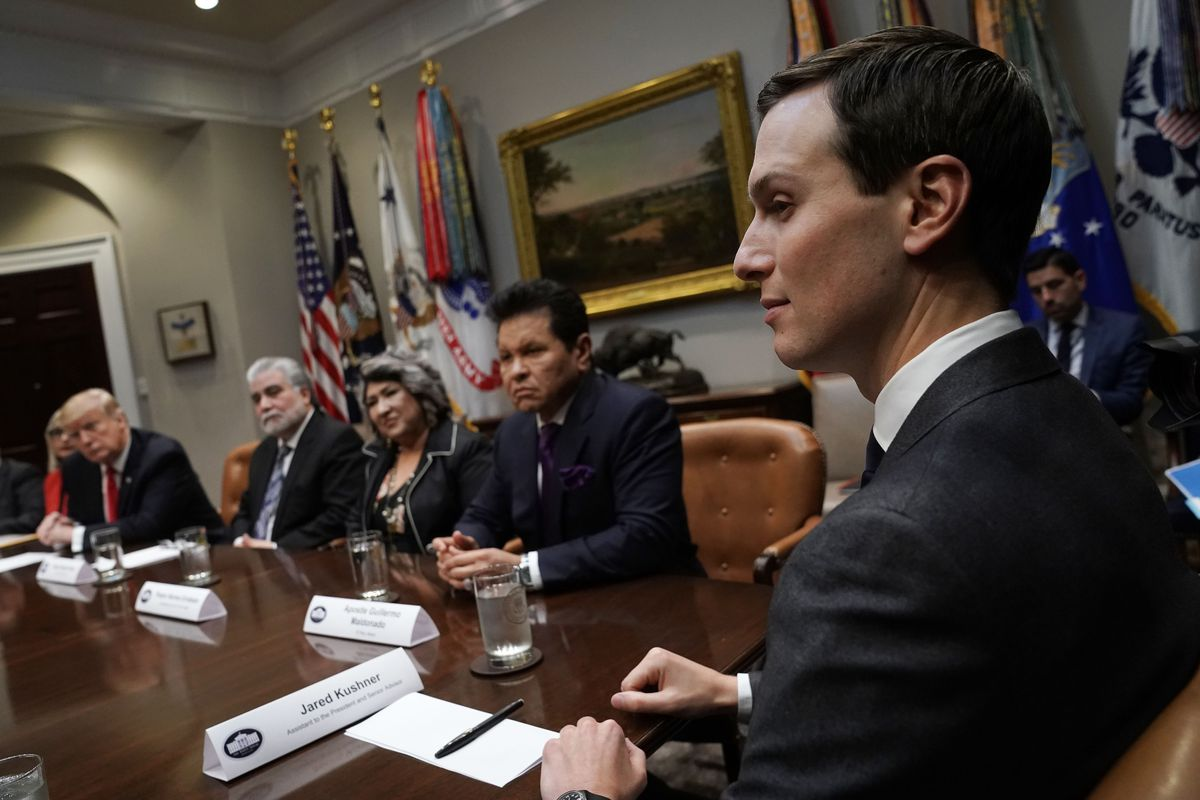 President Trump Hosts Roundtable With Hispanic Pastors In The Roosevelt Room Of White House