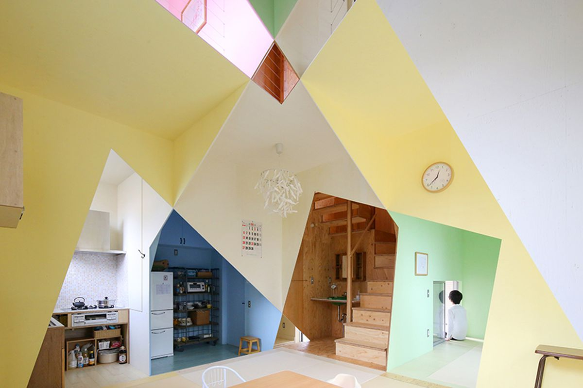 japanese home colorful and angle loving is a kaleidoscopic delight