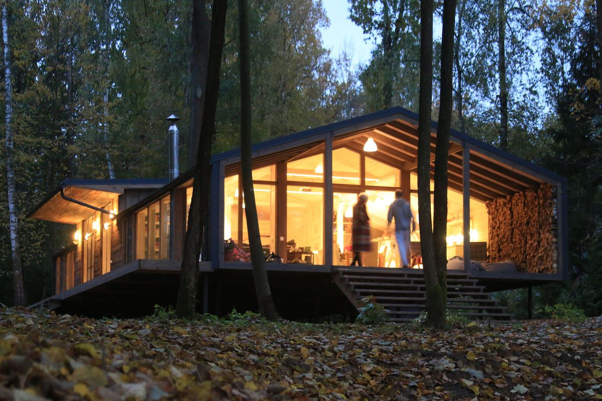 Airy modern prefab cabin was built for 80 000 curbed for Modern prefab homes seattle