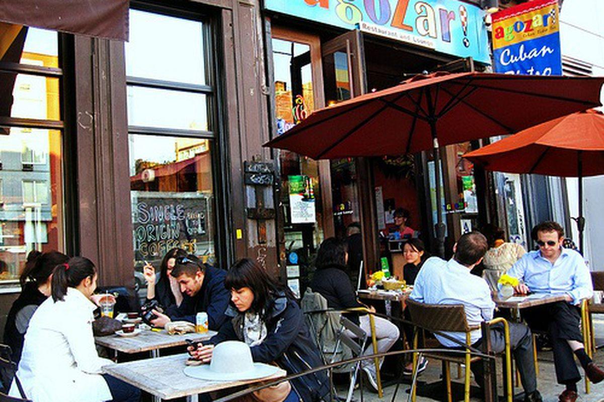 Al Fresco Seating at Think Coffee/Agozar Cuban