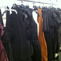 More Christian Siriano - love the caramel leather tunic dress in the middle.