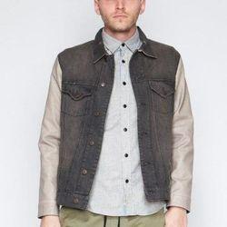"J.A.C.H.S - Varsity Jacket, <a href=""https://www.shopwasteland.com/mens-new-jackets-coats/J.A.C.H.S/Varsity-Jacket/varsityleatherjacket/"">$123</a>."