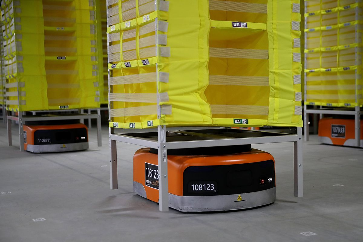Amazon says fully automated shipping warehouses are at least