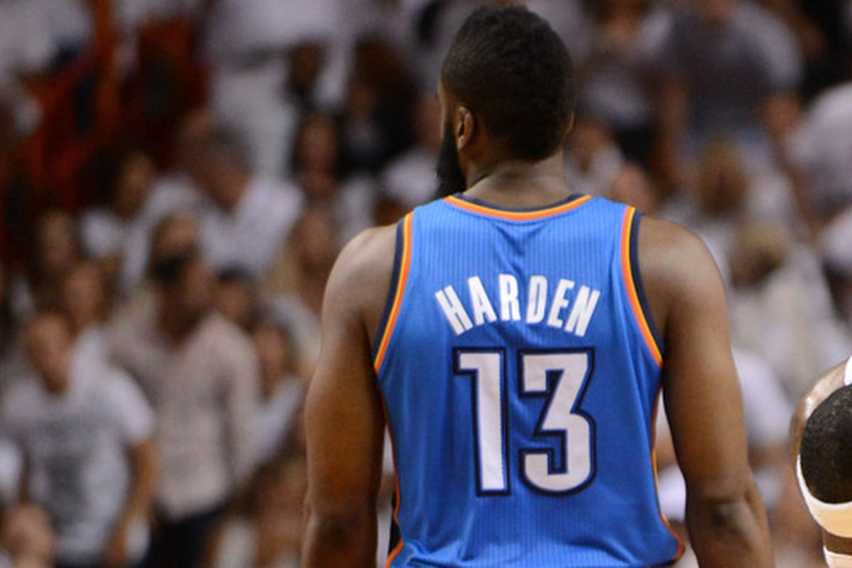 on sale 6ce4f 5ce6e James Harden: OKC negotiations 'hurt' - Welcome to Loud City
