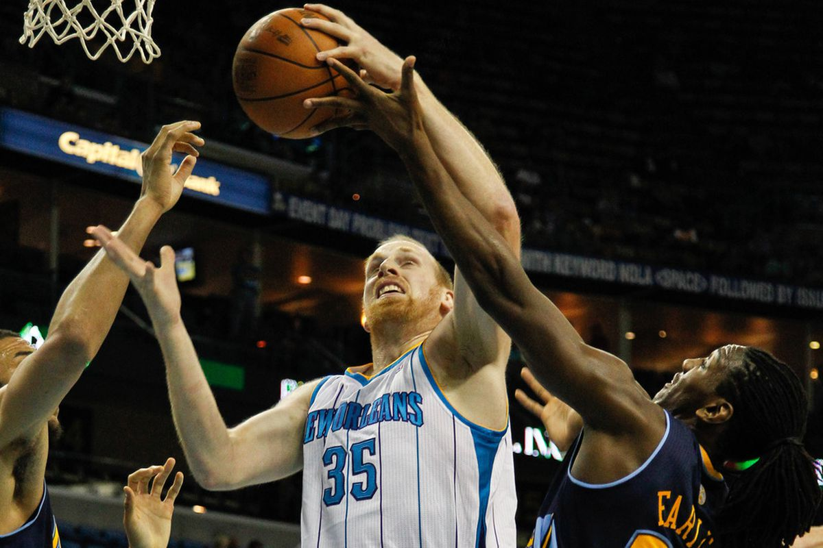 Chris Kaman is a big guy ... so the Nuggets guarded him with small guys.