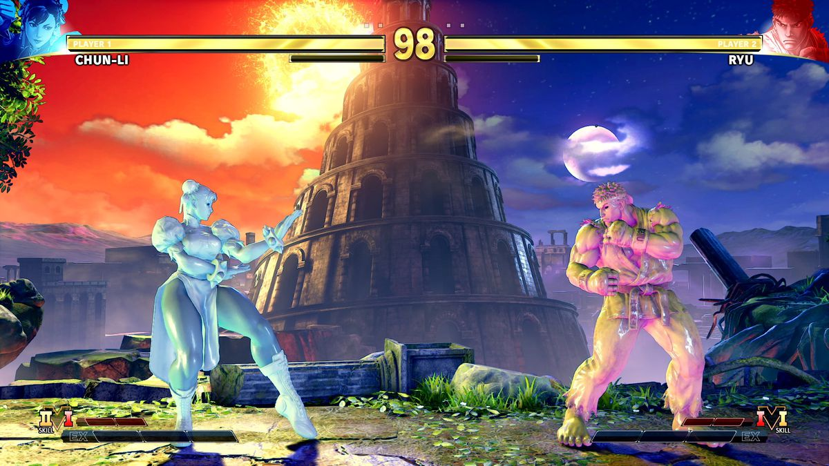 Eleven, as Ryu and Chun-li, in Street Fighter 5