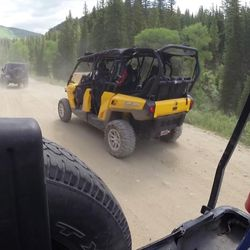 Recreationists in utility task vehicles hit the trails in American Fork Canyon on Saturday, June 17, 2017. Over the years, the canyon has become increasingly popular and experienced a fair amount of growth in visitors. One of the reasons for the increase in visitors is UTVs. They allow more than two people at a time to enjoy the ride compared to a four-wheeler.