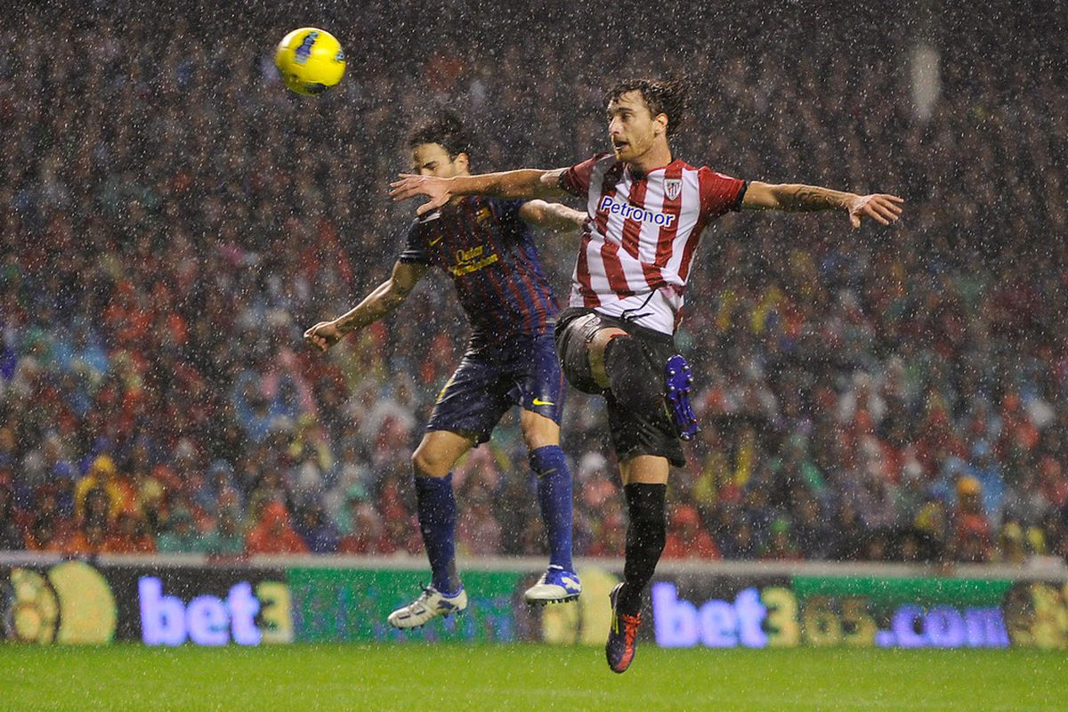 Let's just hope the Final won't be as wet as the game at San Mames was.
