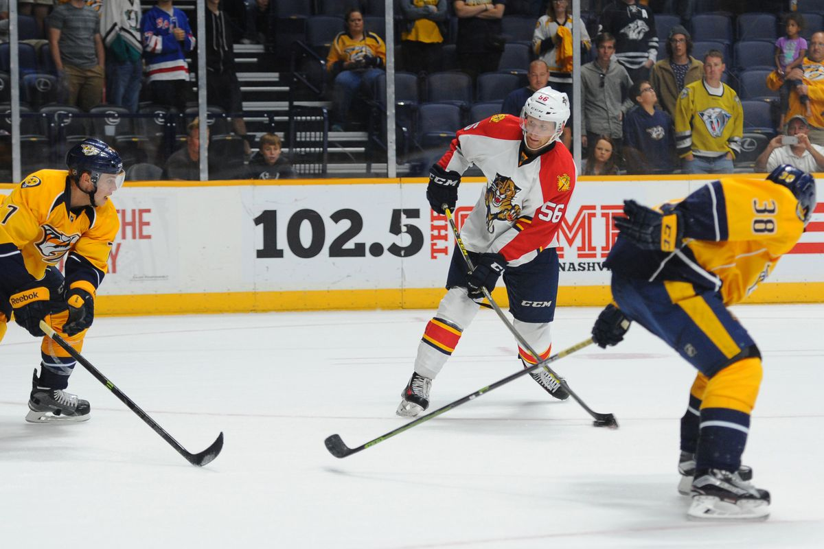 Mike Matheson scored Portland's only goal in the loss to Hartford.