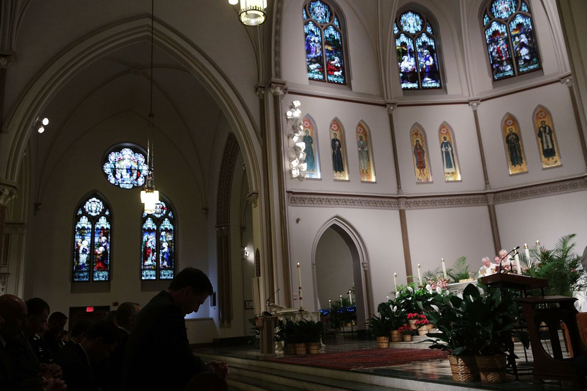 Annual Blue Mass Held In Support Of Law Enforcement Officers And First Responders At St. Patrick's