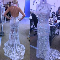 Marina made this stunning custom gown for CeCe Frey.