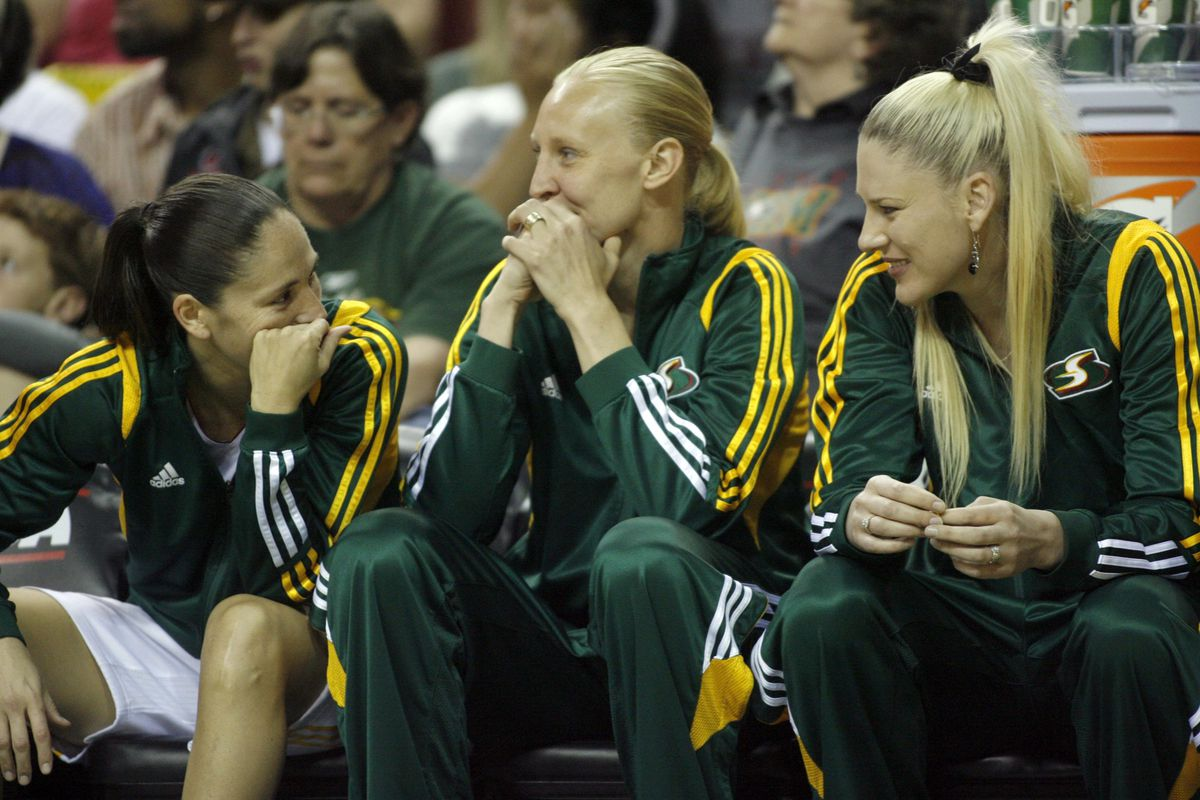 The Storm has a team with an aging core with all three of these ladies past the age of 30.  How can they add youth while keeping their franchise combo guard (left) and post player (right)?