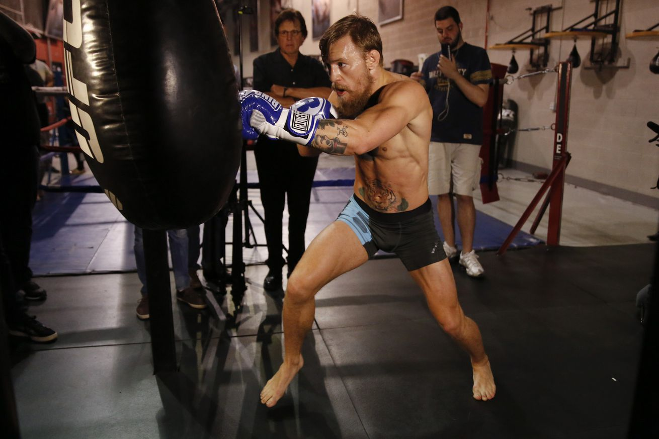 Training partner: Conor McGregor and Paulie Malignaggi's sparring session was like a 'full on fight'