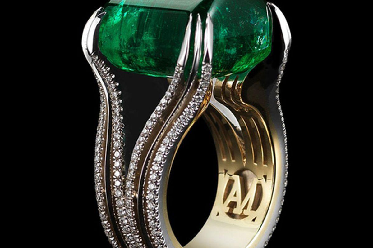"""$180,000 emerald ring via <a href=""""http://www.alexandramor.com/"""">Alexandra Mor</a>"""