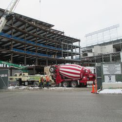Wed 12/30: through Clark St. gate, new concrete delivered -