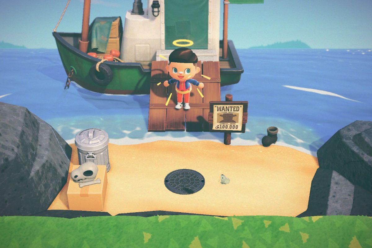 Redd's boat in Animal Crossing: New Horizons