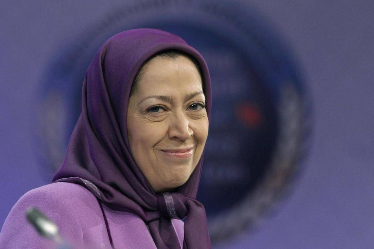 FILE - In this Jan. 25, 2011 file photo, Maryam Rajavi, President-elect of Iranian opposition party National Council of Resistance of Iran, smiles as she attends an international conference on Iran policy in Brussels. Maryam Rajavi, the Paris-based head o