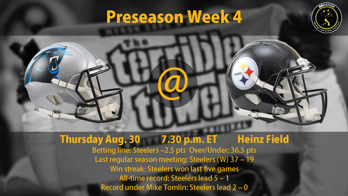 e45f6327592 Steelers vs. Panthers Preseason Week 4 time