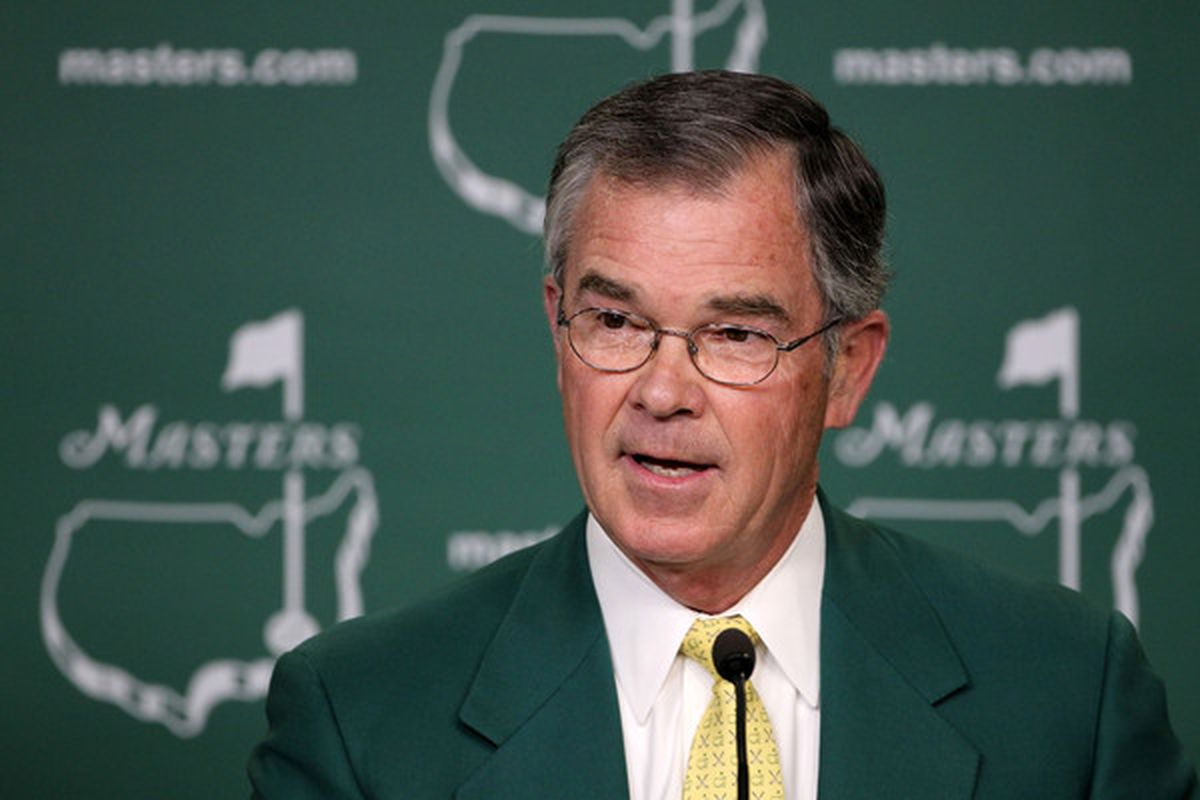 """AUGUSTA, GA:  William Porter """"Billy"""" Payne, the chairman of Augusta National Golf Club, don't care."""