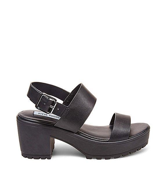 Steve Madden black platform sandals