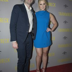 Bill Hader and Amy Schumer at the Melbourne premiere of <i>Trainwreck</i>.
