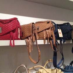 Woven bags, $100