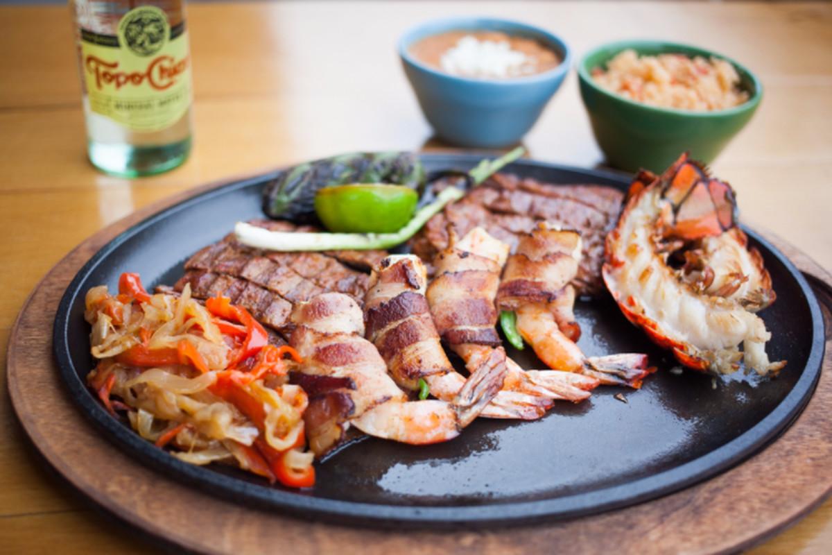 El Burro's bacon-wrapped shrimp